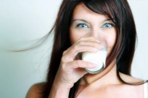drinking-milk-woman