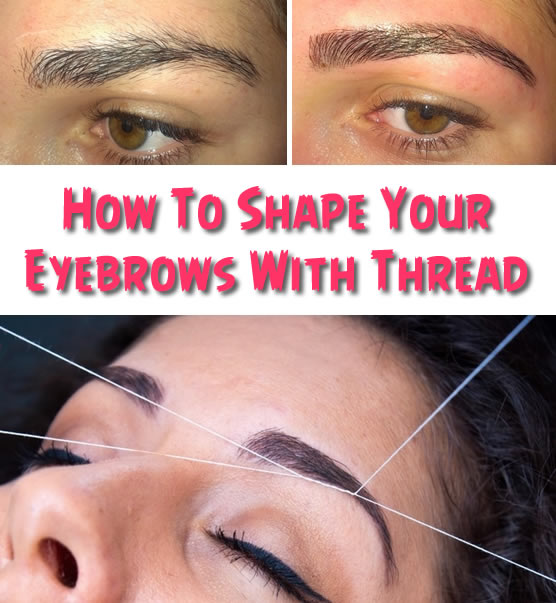 How-To-Shape-Your-Eyebrows-With-Thread