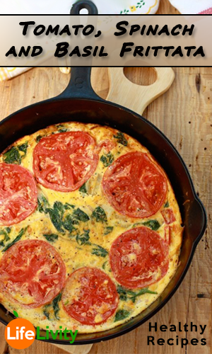 Tomato-Spinach-and-Basil-Frittata